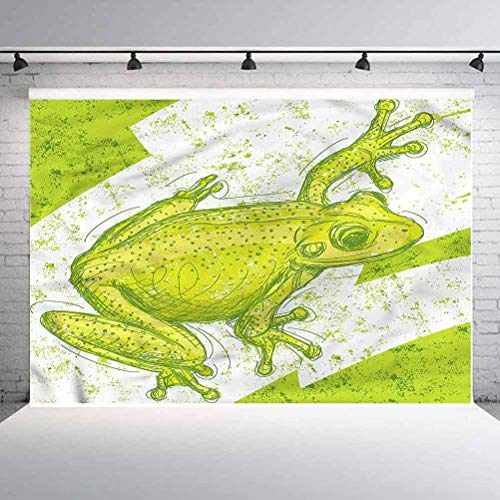 10x10FT Vinyl Photography Backdrop,Animal,Dirty Grunge Effect and Frog Photoshoot Props Photo Background Studio Prop