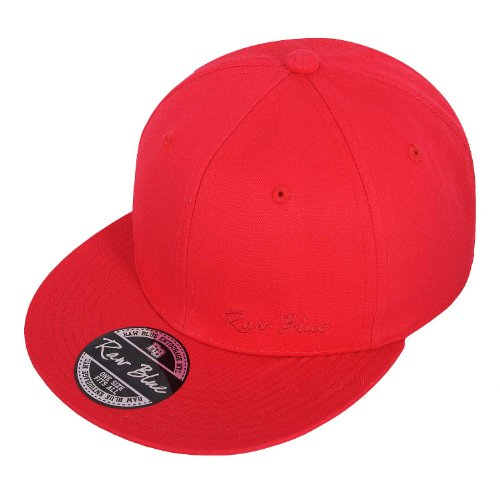 Raw Blue Basic Signature Snapback in Red / Red