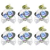 Peng Haiyunfei Dama de Honor Boda muñeca Flor Ramillete Nupcial Pulsera elástica Ramillete Boda Fiesta de Balonmano Volver a la Escuela Mano decoración de Flores (Sueño Conjunto Azul)