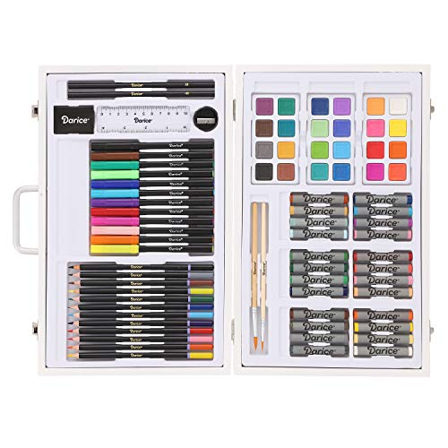 Image of the Studio 71 Kids Art Set in Wood Case: 82 pieces Box color may vary