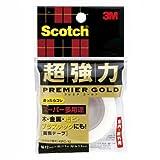 3M スコッチ 超強力両面テープ プレミアゴールド スーパー多用途 12mm×1m KPC-12