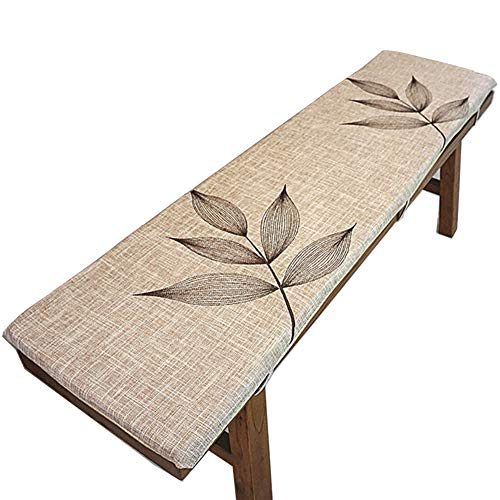 ZAIPP Indoor Outdoor Bench Cushion Swing Cushion,Thicken Non-Slip Linen Comfortable Patio Lounge Cushion Long Dining Bench Removable Cushion Khacolor D 35x200x3cm(14x79x1inch)