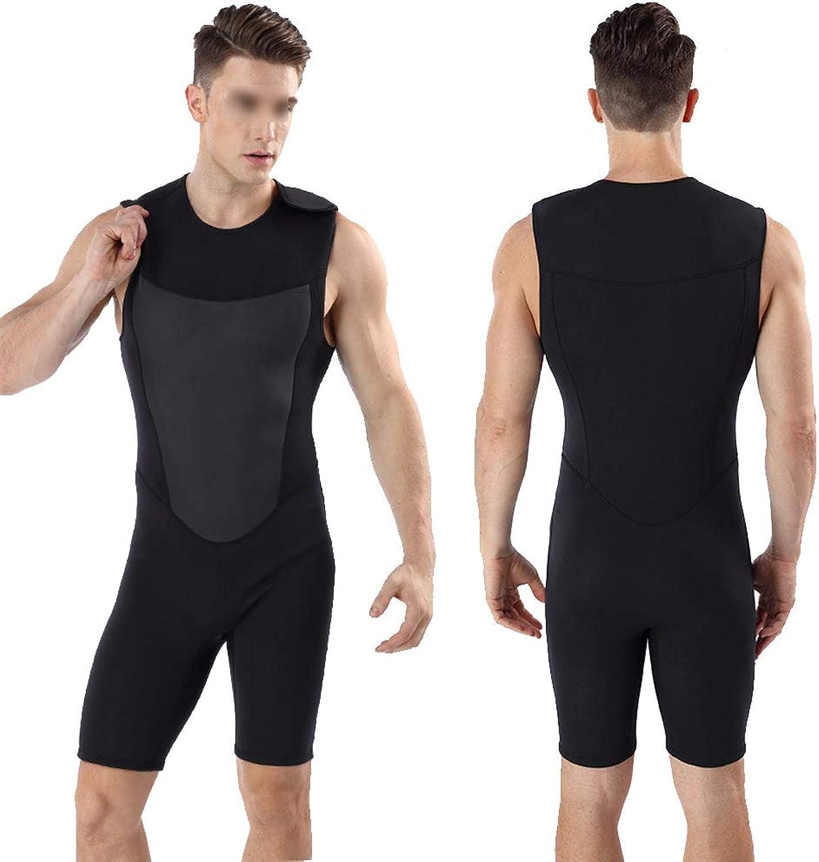 HUOFEIKE Kurzer Neoprenanzug für Herren, Surfanzug, einteiliger Badeanzug, mit Klettverschluss zum schnellen An- und Ausziehen, elastisch warmes Schwimmwasser beim Tiefseetauchen,S