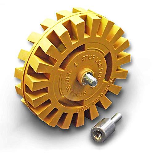 Decal Removal Gum Wiel Tool Kit -Rubber Power Boor Bevestiging voor het verwijderen van Pinstripes, Stickers, Lijm Vinyl Decals van Auto's, Rvs, Boten en Meer