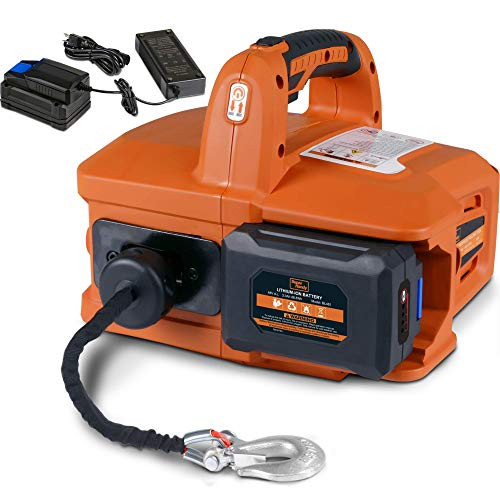 SuperHandy Electric Portable Winch Hoist 1000Lbs/455Kgs Max Weight 20'...