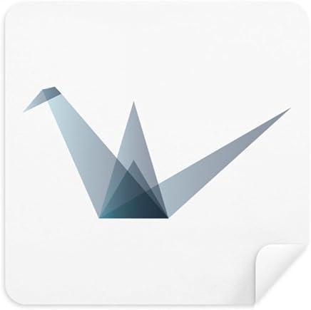 Origami Grue Abstraite G/éom/étrique Nettoyant pour /Écran de T/él/éphone Lunettes Chiffon de Nettoyage 2/Pcs Daim Tissu