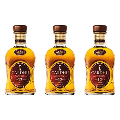 Cardhu 12 Years/Jahre, 3er, Single Malt, Whisky, Scotch, Alkohol, Alokoholgetränk, Flasche, 40%, 700 ml, 715237