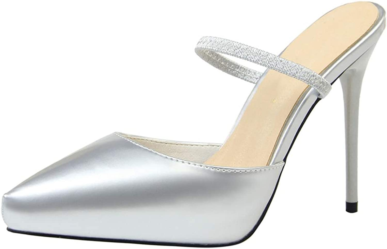 Drew Toby Women Pumps Pointed Toe Patent Leather Solid color Fashion Elegant Slippers