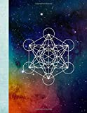 Metatron's Cube Universe 8.5 x 11 150 Pages Large 1 Half Inch Per Side Hexagon Graph Paper Journal Notebook
