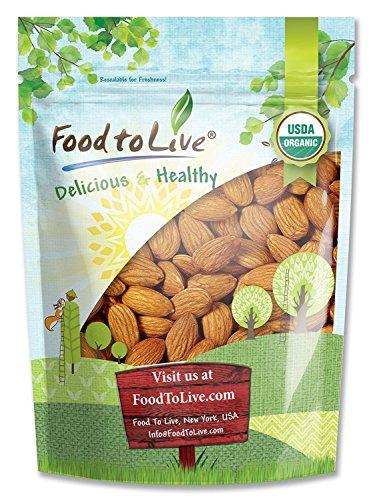 Organic Almonds, 3 Pounds - Non-GMO, Kosher, No Shell, Whole, Unpasteurized, Unsalted, Raw, Bulk