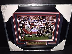 Eli Manning The Great Escape Super Bowl Xlii Mvp 8x10 Framed New York Giants
