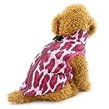 Pegasus SELMAI - Abrigo para perro pequeño con agujero para arnés, impermeable, acolchado, chaleco con anillo en D, gato, cachorro, chihuahua, ropa para clima frío, leopardo, S