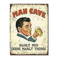 ビンテージスタイルのレトロな男洞窟ガレージプレゼントティンサイン