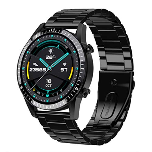 Relojes de pulsera Reloj Inteligente para Hombres, Rastreador de Actividad con Pantalla Táctil Completa de 1.3 Pulgadas, Reloj de Fitness En Espera Persistente, Reloj de Acero Inoxidable Resistente Al