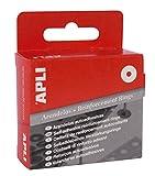 APLI 116 - Arandelas de refuerzo translúcidas 13 mm 200 u.