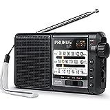 [Actualizado] PRUNUS J-01 Radio Portatil Pequeña,Transistores Radio multibanda FM Am SW con Excelente recepción, Radio bateria Recargable de 2200 mAh, Reproductor de música MP3 con Radio Micro-SD/TF