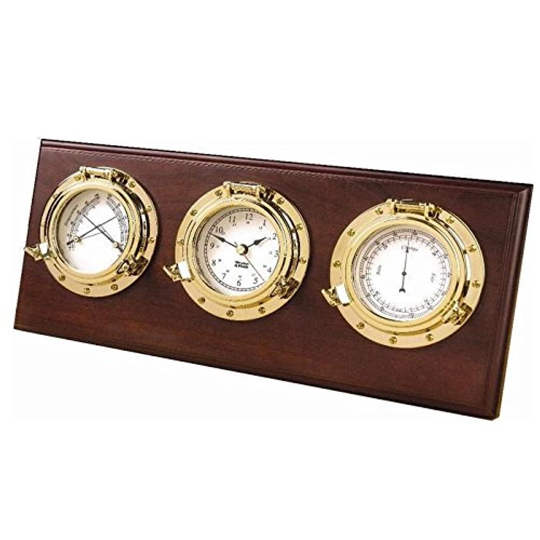 気質コントローラ遅れWeems & Plath  Porthole Desk Set 【温度/湿度計?クオーツ時計?気圧計】