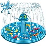 """Apsung 2020 Upgraded Sprinkler Splash Play Pad for Kids, 68"""" Children's Sprinkler Wading"""