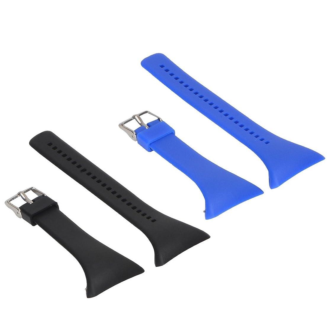 刈る放散するスクランブルdailymall Polar FT4 FT7 FT Watch Black Blue用2ファッションシリコンウォッチバンド交換ストラップ