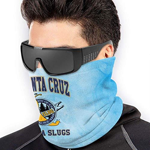 Nother Uc Santa Cruz Banana Slugs microfibra calentador de cuello bufanda a prueba de viento a prueba de polvo protección al aire libre máscara facial bufanda