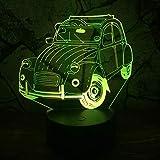 shiyueNB Amroe Claasic Vintage Car 7 Farbwechsel Lava Lampe LED Schreibtisch Nacht Licht Dekoration Kinder Weihnachten Geburtstagsgeschenk RGB