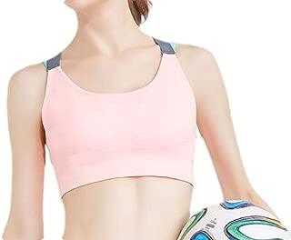 UUYUK Women Beauty Back Yoga Gym Wire-Free Removable Padded Sports Bra