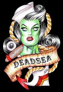 Dead Sea Hilary Jane Nautical Zombie Sailor Tattoo Giclee Art Print