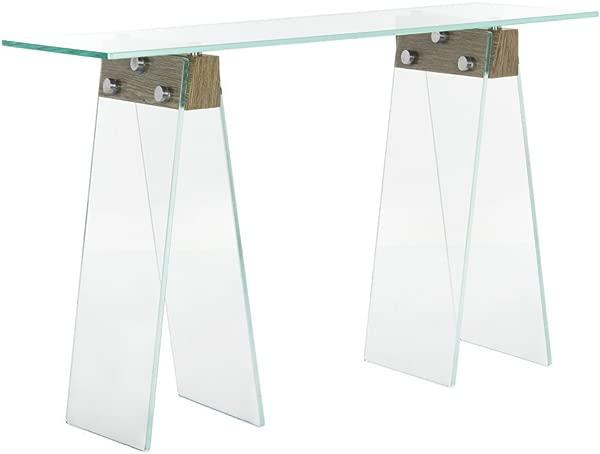Safavieh FOX6019A 家居系列现代阁楼玻璃灰色控制台表