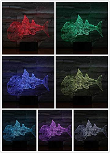 Fisch Tischlampe 3D Illusion Lampara Dekoration Lampe Kind Kinder Geschenk Tier Nachtlicht Nachtlicht LED Fisch Schlafzimmer