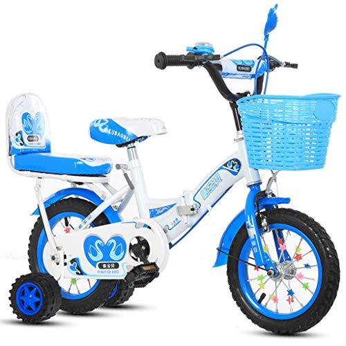 LLF Bicicleta Infantil Bicicleta Plegable Kid, Rosa Cisne Niñas Niño