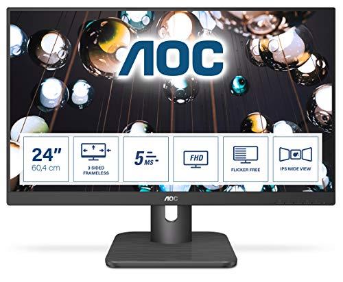 AOC 24E1Q - 24 Zoll FHD Monitor (1920x1080, 60 Hz, VGA, HDMI, DisplayPort) schwarz