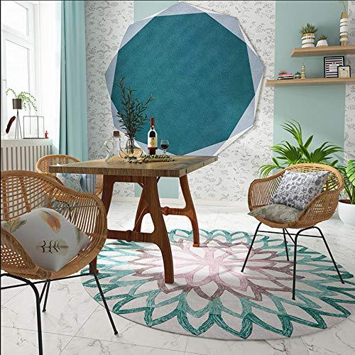 Alfombras De Habitacion Redondas Azules alfombras de habitacion  Marca ANBAI