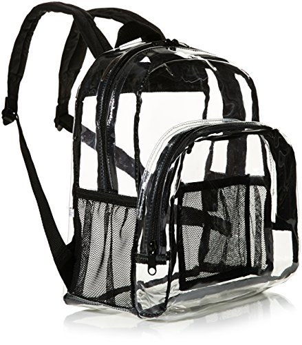 Amazon Basics Stadium Approved Mini Transparent Backpack Bag - Clear