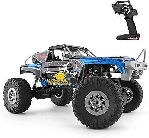 UimimiU 4WD Control remoto Coche 1/10 Coche de escalada, Dual-Moto RRC Coche 2.4G Adulto Modelo de control remoto de automóviles de alta velocidad Juguetes de vehículos fuera del vehículo para niños R