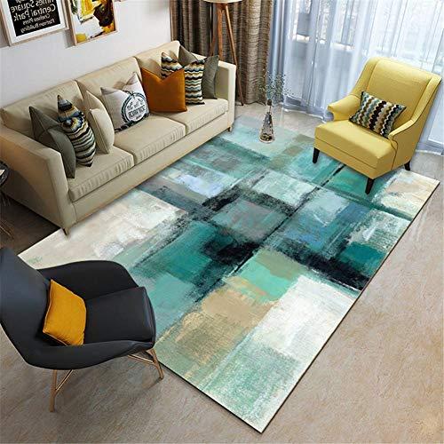 Zuoyun Alfombra Diseño Extra Grandes Moderno Pelo Corto Funky Area Carpet Verde...