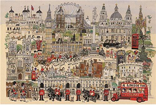 Puzzle 1000 Piezas para Adultos,Rompecabezas,Rompecabezas para Suelo, Edificios, Niños y Adultos (London)