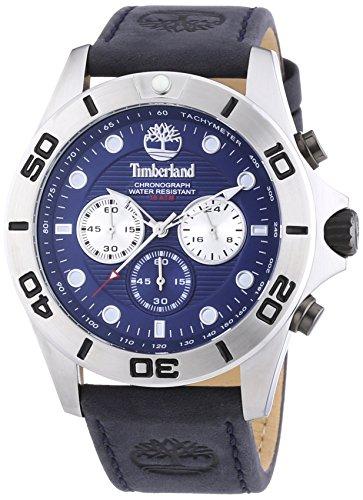 Timberland Northfield - Reloj de Cuarzo para Hombre, con Correa de Cuero, Color Azul