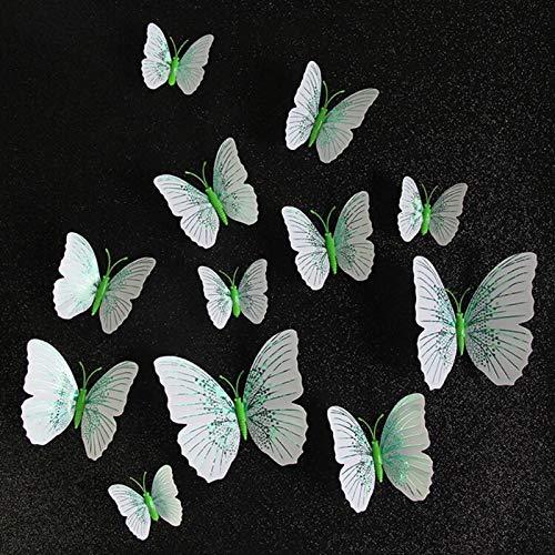 XIAOXINGXING 12 Unids/Set Ambilight 3D Pegatina De Pared De La Mariposa Mariposas Mariposas Decoración del Hogar Decoración De La Decoración del Refrigerador Imán Pegatinas De La Pared para La Boda