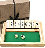 Shut the Box Dice Spiel - Luxus 9 Zahlen Klappbrett spiel - Jaques -