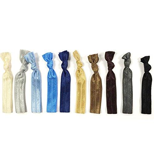Allydrew 10 Pack Elastic Hair Ties Ribbon Hair Ties Ponytail Holders No Crease Hair Ties Ouchless Ha - http://coolthings.us