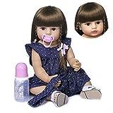 FACAIA Rebirth Doll, Juguetes para niños Reborn 22 Pulgadas 55cm de Cuerpo Completo Lovely Reborn Baby Girl Dolls Niño de Pelo Largo Reborn Toddler Juguetes