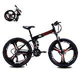 マウンテンバイク21スピード3スポーク26インチホイールデュアルディスクブレーキアルミフレームMTB自転車アーバントラックバイク,黒