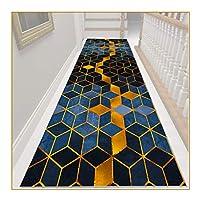 ZEMIN 廊下敷きカーペット、滑り止め耐久性エリアラグ、キッチントイレポーチ階段用の耐摩耗性装飾カーペット、メンテナンスが簡単 (Color : A, Size : 1.0mx1m)