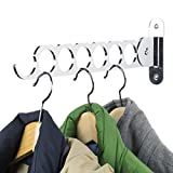 Wallniture Costa Wardrobe Closet Organization and Storage, Wall Mounted Clothes Hanger, 14.5 Inch Steel Chrome