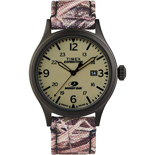 Timex Men's Expedition Scout 40mm Analog Quartz Leather Strap, Camouflage, 20 Casual Watch (Model: TW2T94700)