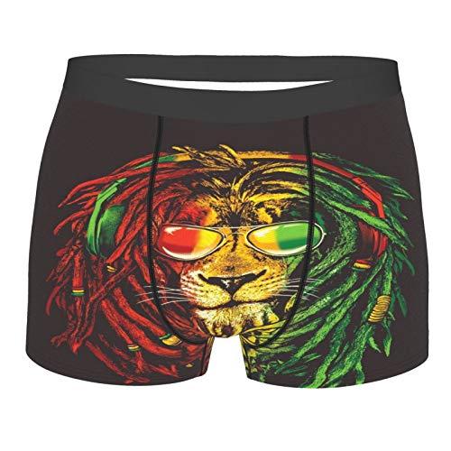 Rasta Vibe Lion con gafas de sol ropa interior para hombre divertido calzoncillos tipo bóxer