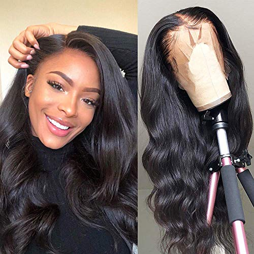 Lace Front Wigs Human Hair for Black Women 150% Density 9A Brazilian 13×4 Viennois Body Wave Human Hair Lace Front Wigs Pre Plucked with Baby Hair Natural Hairline Wigs(26inch)