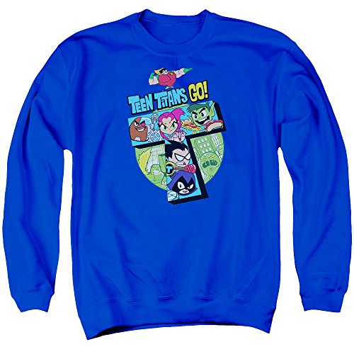 Teen Titans Go - T Sweater, Large, Royal Blue