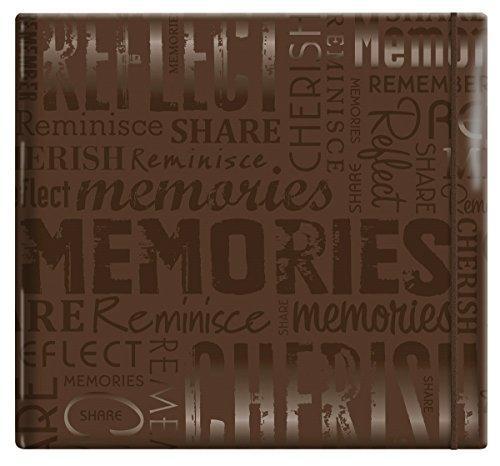 """MCS Álbum de scrapbook MBI 33,5 x 32,5 cm em relevo Gloss Expressions com páginas de 30 x 30 cm, marrom,""""Memories"""" em relevo (848122)"""