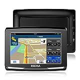 5' GPS Automatique de Voiture Moto 8GB, Hieha Appareil de Navigation Écran HD Tactile, Intégrer Le Système des Instructions...